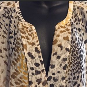 Lane Bryant Tops - Lane Bryant Animal Top Print With Pleated Back